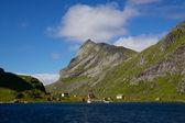 Fjord on Lofoten — Stock Photo