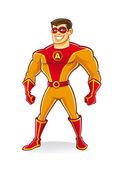 Super héroe guapo — Vector de stock
