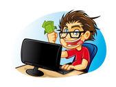 Geek louco — Vetorial Stock