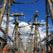 Stock Photo: Electric substation in bright sunny day