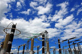 Electricity generation at power plant — Stock Photo