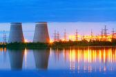 Power plant at night — Stock Photo