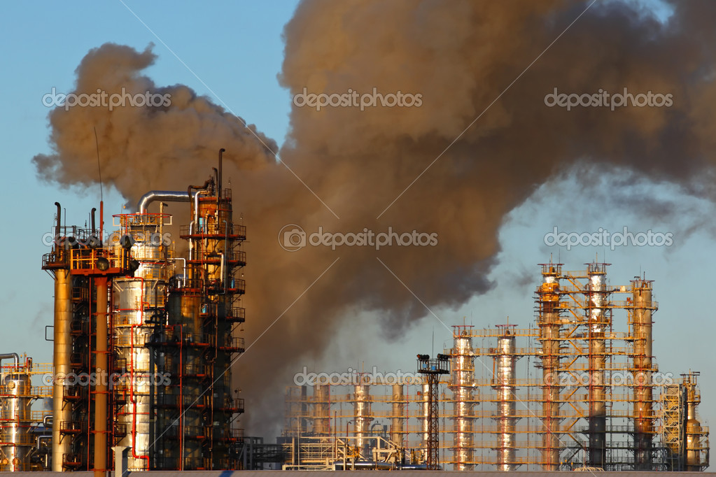 The burning photo at oil refinery — Stock Photo #11125859