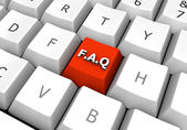 FAQ Red Pc Keyboard Button — Stock Photo
