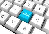 Blog Key on a Keyboard — Stock Photo