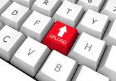 File transfer key on pc keyboard (upload) — Stock Photo