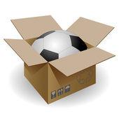 Bola en la casilla de correo. — Vector de stock