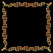 Stock vektor: Abstract vintage border frame.