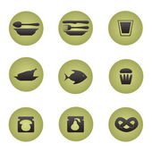 Restaurant icons set. — Stock Vector