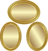Golden oval background — Stock Vector