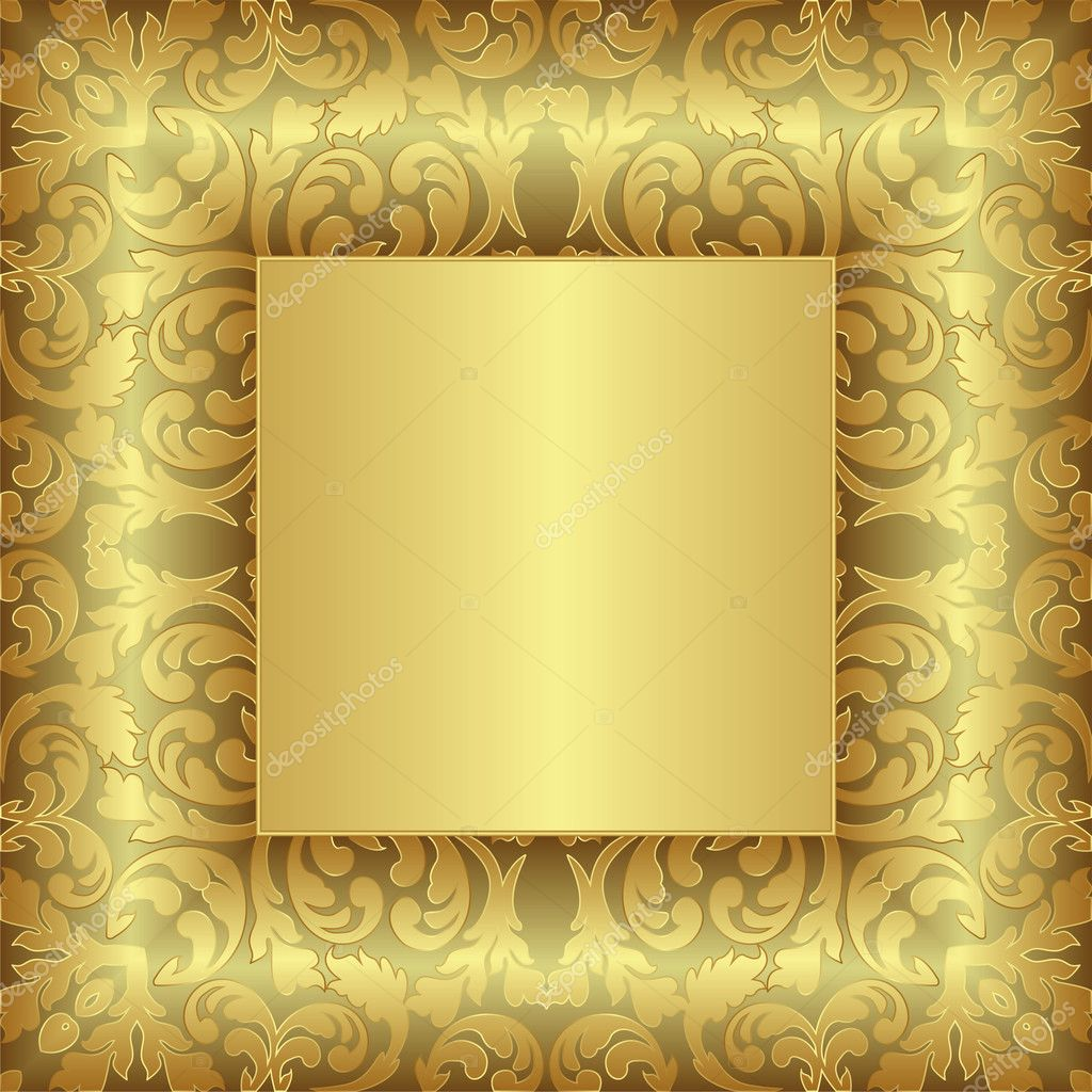 Golden Background Image Golden Background With Floral
