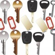 Royalty-Free Stock Vector Image: Set of Keys