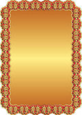 Golden red background — Stock Vector