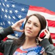 Learning language - American English (girl) — Stock Photo #11070210