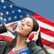 Learning language - American English (girl) — Stockfoto