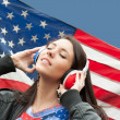 Learning language - American English (girl) — 图库照片