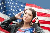 Learning language - American English (girl) — Foto de Stock