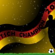 Deutsch Soccer Champion — Stock Vector