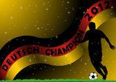 Deutsch Soccer Champion — Stock Vector