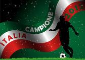 Italia Soccer Campione — Stock Vector
