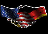 USA and Germany Alliance — Stock Vector