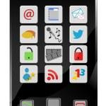 Social Media smartphone — Stock Vector