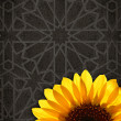 Stock Photo: Colourful sunflower on abstract background