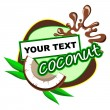 Coconut. Background for design of packing. — 图库矢量图片