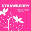 Vector de stock : Strawberry label design.
