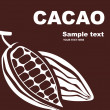 Cacao label design . — Stock Vector