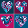 Hearts. Valentine's day set of hearts. — Stock Vector