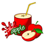 Apple juice bottle — Stock Vector