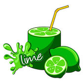 Kiwi. Juice pouring. — Stock Vector