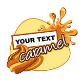 Caramel label design. — Stock Vector