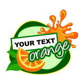 ORANGE. Fruit label. — Stock Vector
