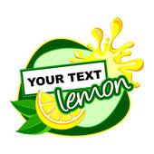 Lemon label desidn. — Stock Vector