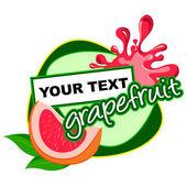 Grapefruit label desidn. — Stock Vector