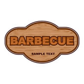 Barbecue wooden board. — Stock Vector
