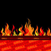Barbecue and grill background. — Stock Vector