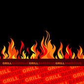 Tło do grillowania z grillem. — Wektor stockowy