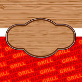 Barbecue and grill background design. — Stock Vector