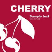 Fruit label. Cherry. — Stock Vector