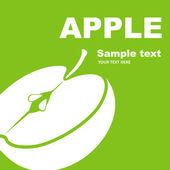Apple. Fruit label. — Stock Vector
