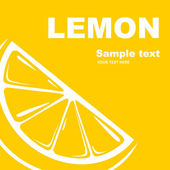 Lemon label. — Stock Vector