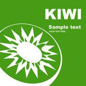 Kiwi label. Fruit label. — Stock Vector