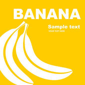 Fruit label. Banana. — Stock Vector