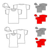 T-shirts for men and women. — Stock Vector