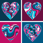 Hearts. Valentine's day set of hearts. — Vector de stock