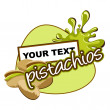 Pistachios label. — Vector de stock #11439027