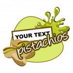 etiqueta de pistachos — Vector de stock